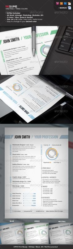 Resume + Cover Letter Resume cover letters, Cover letter resume - one page resume format