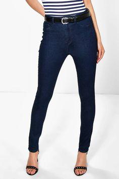 Allie Mid Rise Indigo Skinny Jeans