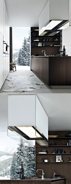 minimalistic kitchen by Polliform, Varenna
