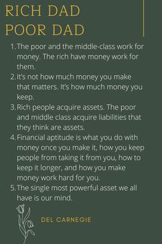 Poor Management Quotes, Money Management, Financial Quotes, Financial Tips, Rich Dad Poor Dad, Work Motivational Quotes, This Is A Book, How To Become Rich, Book Summaries