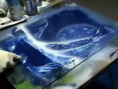 Space Painting Spray Art #03 - YouTube