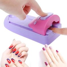 Always wanted to create beautiful nail arts? Now you can with this amazing Portable Manicure DIY Nail Art Stamping Kit Tool Pattern Printer! 3d Nail Art, Cool Nail Art, Nail Art Stamping Plates, Nail Stamping, Beautiful Nail Designs, Beautiful Nail Art, Manicure Diy, Nail Art Machine, Nail Design Machine