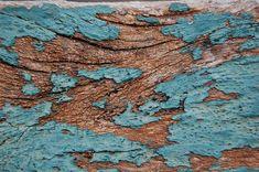 old blue paint on wood