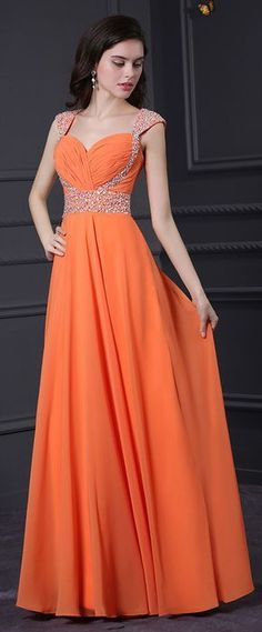 3ffe81f789752 Chic Chiffon   Stretch Satin Queen Anne Neckline A-Line Prom Dresses