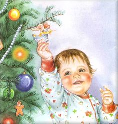 I love Eloise Wilkin and her illustrations! Old Time Christmas, Old Fashioned Christmas, Vintage Christmas Cards, Christmas Baby, Christmas Pictures, Vintage Cards, Vintage Postcards, Christmas Colors, Merry Christmas
