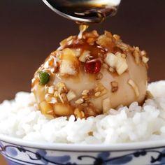 悪魔的に美味しい!韓国風煮卵 in 2020 B Food, Food Menu, Asian Recipes, Healthy Recipes, Ethnic Recipes, Tasty, Yummy Food, Cafe Food, Asian Cooking