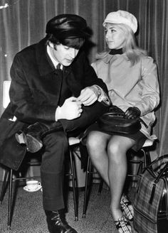 John Lennon with his then wife Cynthia Lennon who has passed away April 1, 2015 at her home in Spain