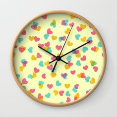 Buy Hearts on sand Wall Clock by owlychic. Worldwide shipping available at Society6.com. Just one of millions of high quality products available. #livingrooms #products #today #owlychic  #livingrooms #decors #building #product #clock #wall #wallclocks
