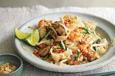Chicken and prawn pad Thai: If there's anything better than a big bowl of pad Thai, we don't want to know about it. Thai Recipes, Asian Recipes, Chicken Recipes, Cooking Recipes, Savoury Recipes, Savoury Dishes, Seafood Recipes, Dinner Recipes, Kitchens