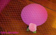 Fascinator Rohling Grundlage Hut PINK 12 cm von Caldren-Manufaktur auf DaWanda.com