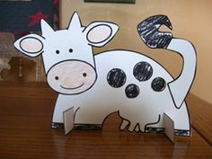 Animal craft:  Color the pieces, cut them out and glue together.  Also print the stands.
