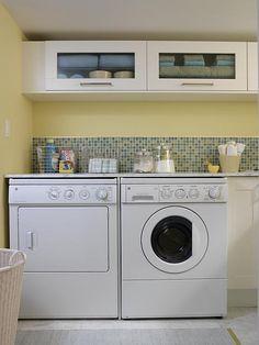 Fresh Laundry | Sarah Richardson Design.. My laundry romm inspiration!  I love it!