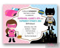 Batman+and+Batgirl+Birthday+Invitation+PRINTABLE++by+CallaChic,+$14.00