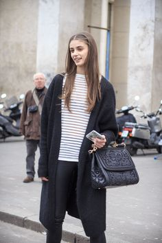 Black and white casual cool