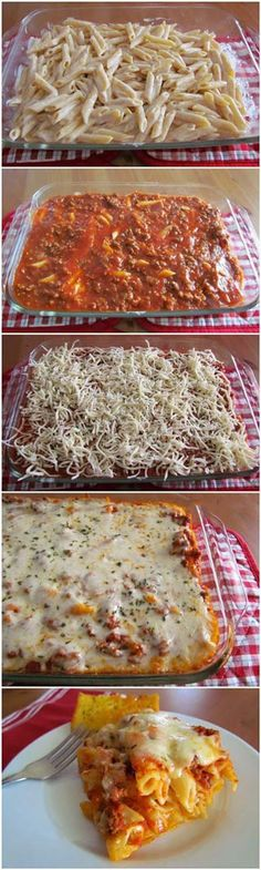 Easy Baked Ziti. This Is The PERFECT Italian Casserole. Rich & Creamy Ricotta Cheese Combined With Mozzarella - Bakes In Under 40 Minutes!!