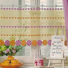 Crochet is a process of making a fabric by interlocking loops of yarn or thread using crochet hook. And this process is used to make the French styled crochet curtains. Crochet curtains are not as muc Crochet Curtain Pattern, Crochet Curtains, Curtain Patterns, Curtain Designs, Crochet Doilies, Crochet Patterns, Crochet Home Decor, Crochet Crafts, Crochet Projects