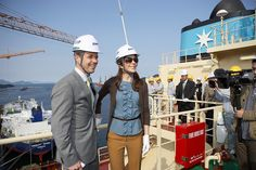 Danish royal couple cut steel in Korea for the first Triple-E vessel by Maersk Line, via Flickr