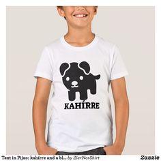 Text in Pijao: kahírre und ein schwarzer Hund T-Shirt Fitness Models, Mens Fashion, Language, Dogs, Casual, Sleeves, Mens Tops, T Shirt, Black