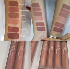 New Huda Beauty liquid mattes nude swatches