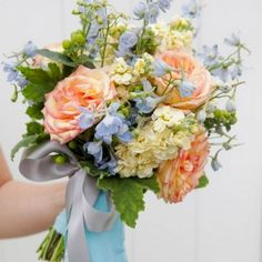 Learn how to create an elegant babies breath wedding bouquet!
