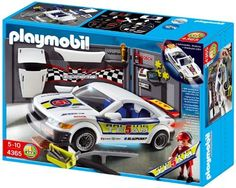Playmobil Car Repair Shop and Race Car with Headlight by Playmobil. $36.55. Recommended Age: 5 - 10 years. CHOKING HAZARD - Small parts. Not for children under 3 yrs.. For head lights, back lights and under-floor lights. Workshop wall with a lot of tuning vehicle parts. Suitable from 3 Years +