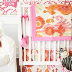 New Arrivals Crib Bedding Urban Ikat Fuschia @LaylaGrayce