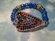 Colorful Heart #BeadedBracelet by RandRsWristCandy on Etsy, $8.00