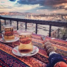 Turkish style. #turkey #turquia #istanbul #estambul #tea #te #shisha #narguile #sight #view #terrace #sunset #river #sea #city #citystyle #citylovers #sky #skylovers #color #colorlovers #mosque #arab #arabian #igers #travel #travelgram #picoftheday #iphonecam