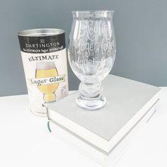 LAST ONE REDUCED Engraved Lager Glass Christmas Gift Ideas For Husband Drinker Trainspotting Dartington Beer