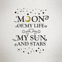 ❤️ Moon of My Life in Dothraki ~ Drogo Game of Thrones My Sun and Stars in Dothraki ~ Daenerys Game of Thrones