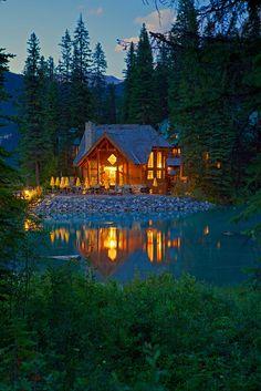 The main lodge at Emerald Lake, Yoho National Park, British Columbia, Canada