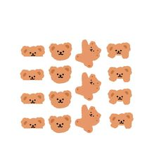 Cartoon Stickers, Kawaii Stickers, Cute Stickers, Sticker Shop, Sticker Design, Korean Stickers, Cute Doodles, Journal Stickers, Aesthetic Stickers
