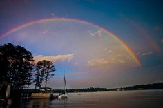 Rainbow over Lake Murray (Columbia, SC) More great photos at www.thestate.com/2012/06/18/2321617/best-from-the-state-photographers.html