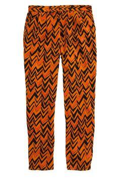 Rich orange chevron pants from Madewell #Madewell #chevron