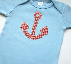anchors away onesie. definitely getting this when I have kids.