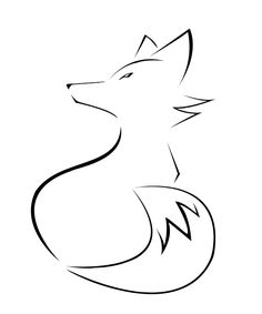 Very simple fox tattoo