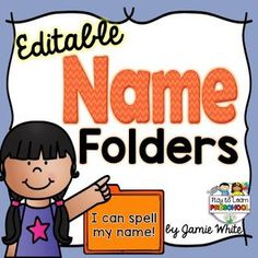 These portable Name Folders offer 4 different hands-on ways for children to practice recognizing, spelling and writing their names. Kindergarten Names, Preschool Names, Kindergarten Classroom, Preschool Ideas, Classroom Ideas, Classroom Organization, Organizing Tools, Preschool Programs, Preschool Printables