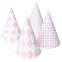 My Little Day Pink Paper Party Hats