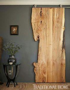 Puerta corrediza  madera rustica
