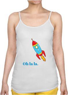 Uzay mekiği kadın t-shirt Kendin Tasarla - Bayan İnce Askılı Atlet