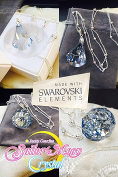 Swarovski Sailor Moon Silver Crystal Necklace by ClaimYourself