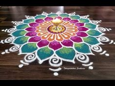 here is a demo on how to draw a colourful freehand rangoli. try this simple freehand rangoli at home for this Diwali. Easy Rangoli Designs Videos, Indian Rangoli Designs, Rangoli Designs Latest, Simple Rangoli Designs Images, Rangoli Designs Flower, Rangoli Border Designs, Rangoli Ideas, Colorful Rangoli Designs, Beautiful Rangoli Designs