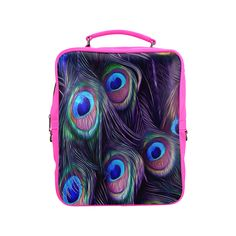 Peacock Feather Square Backpack. FREE Shipping. FREE Returns. #lbackpacks #peacock