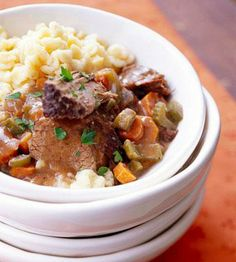 20 Beef Slow-Cooker Meals - tender pot roasts, delicious ribs, hot sandwiches and hearty stews with our beef slow-cooker ideas.