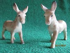 Donkey vintage salt and pepper shakers A Quality Japan label Burrow Mule 1950's