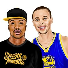 Handsome Rapper with Stephen Curry - An art piece inspired by #Nova of SoundCloud.com/NovaLovesMusic & #StephenCurry of Golden State Warriors of the NBA  #Portrait #Caricature #Art #Drawing #warriors #dubnation #gametime #fullbar #nba #warriorsground #arts #nbafinals #nbafinalsvote #stephencurry #StrenghtInNumbers