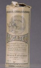 """from the Nat'l History Museum:  """"Treatment for asthma, bronchitis, hay fever, rose fever and other diseases of the respiratory organs.""""  (ca 1906)  Ingredients:  alcohol 13%, opium and arsenious acid (arsenic?)"""