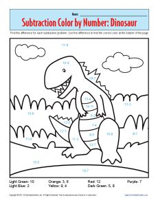 1st Grade Addition And Subtraction Worksheets | Subtraction Color ...