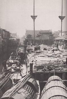 上海江海大关 1870s Shanghai Custom House | Flickr - Photo Sharing! Taiping Rebellion, Time In China, Old Shanghai, Chinese Opera, Time Pictures, Old Photography, Ancient China, History Photos, Treasure Island