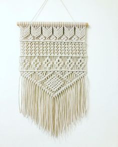 Large Macrame Wall Hanging, Minimalist Modern Macrame Wall Art, Woven Wall Hanging, Boho Nursery Macrame Wall Tapestry, Hygge Macrame Mural – Top Of The World Macrame Wall Hanging Patterns, Large Macrame Wall Hanging, Macrame Patterns, Tapestry Wall Hanging, Hanging Art, Macrame Design, Macrame Art, Macrame Projects, Macrame Knots